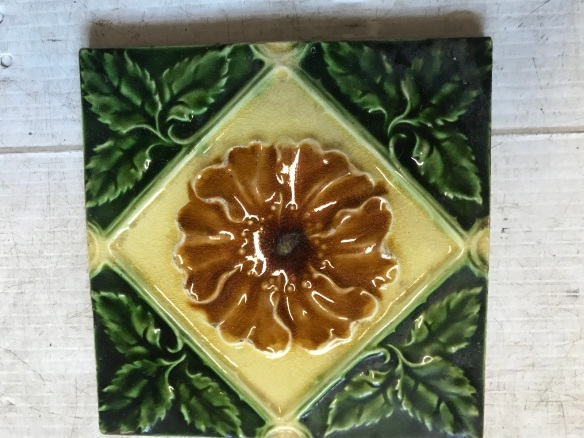 salvaged, recycled, demolition, reproduction, restoration, renovation, collectable, second hand, used, original, old, reclaimed, heritage, Victorian fireplace tiles, $ 27.50 each , 8 available, WS