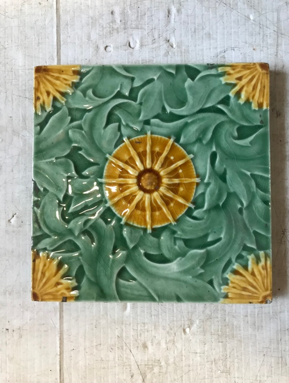 6 original Edge Malkin & Co picture tiles, $27.50 each . 6 available. WS salvaged recycled demolition, reproduction, restoration, renovation,collectable, secondhand, used , original, old, reclaimed, heritage, antique, victorian, edwardian, georgian art nouveau ceramic arts and crafts decorative aesthetic