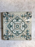 salvaged, recycled, demolition, reproduction, restoration, renovation, collectable, second hand, used, original, old, reclaimed, heritage, Decorative Victorian original tiles to suit fireplace, 6 inch x 6 inch, $ 27.50 each, 6 avalable WS