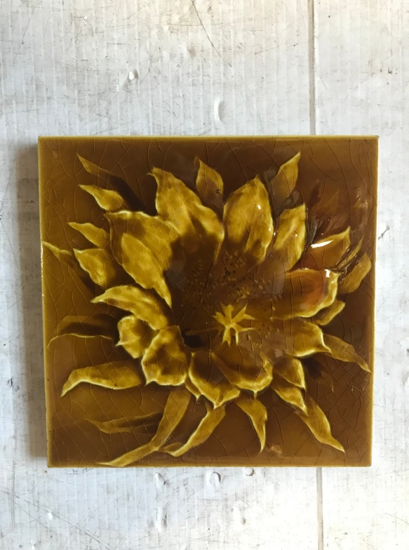 salvaged, recycled, demolition, reproduction, restoration, renovation, collectable, second hand, used, original, old, reclaimed, heritage, Victorian picture tiles, $ 27.50 each . 2 available WS