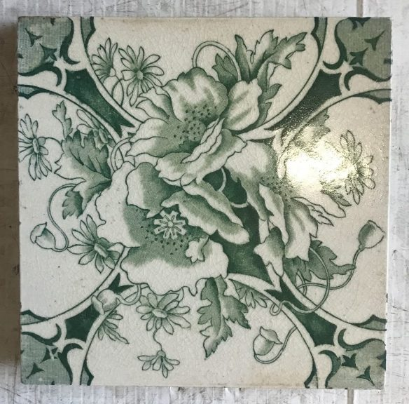 salvaged recycled demolition, reproduction, restoration, renovation,collectable, secondhand, used , original, old, reclaimed, heritage, antique, victorian, edwardian, georgian art nouveau ceramic arts and crafts decorative aesthetic Victorian tiles to suit fireplace, $ 27.50 each, 2 available WS