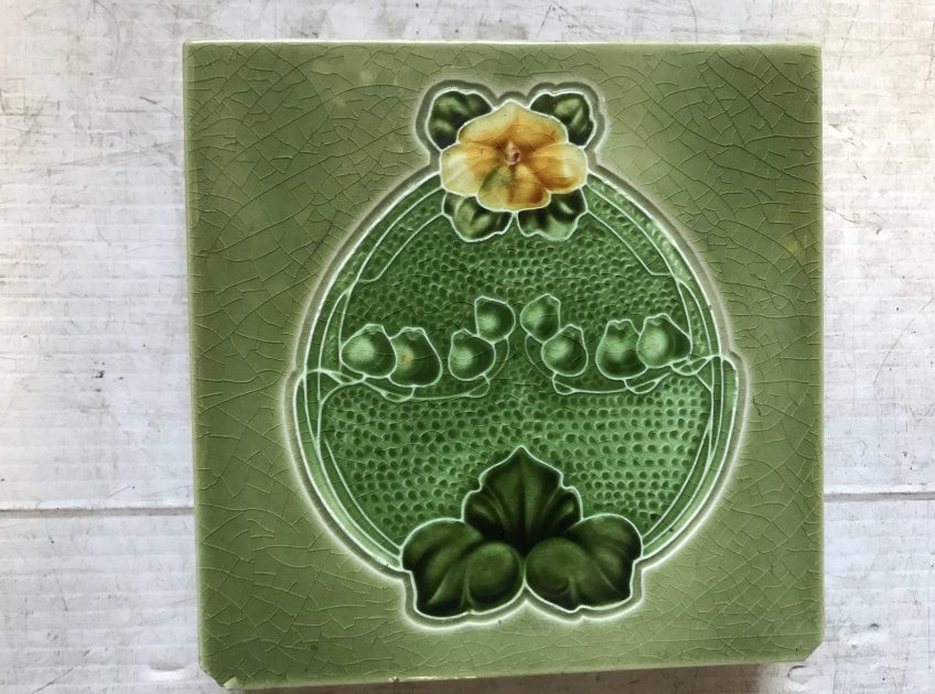 salvaged, recycled, demolition, reproduction, restoration, renovation, collectable, second hand, used, original, old, reclaimed, heritage, original victorian tiles, 3 available $ 27.50 each WS
