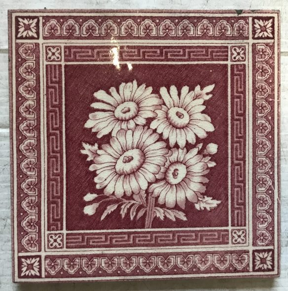 salvaged recycled demolition, reproduction, restoration, renovation,collectable, secondhand, used , original, old, reclaimed, heritage, antique, victorian, edwardian, georgian art nouveau ceramic arts and crafts decorative aesthetic , original picture tiles for a fireplace, 6 inch x 6 inch, $27.50 each , 4 available, WS