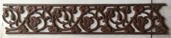 Original cast iron verandah lacework with shamrock and scroll design. approx 6m available. h 160mm. $120 per metre
