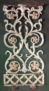 Original cast iron balustrade panels h815 x w390mm x 25 panels available, can arrange grit blasting, $145 each as is.