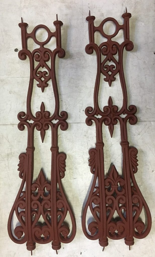Original cast iron belly balustrade, each piece is 820 mm x 240mm at the widest point, 103 pieces available, $75 each salvagedOriginal cast iron belly balustrade, each piece is 820 mm x 240 mm at the widest point, 86 pieces available, makes appx 22 metres depending on spacing, $75 each, recycled, demolition, reproduction, restoration, renovation,collectable, secondhand, used , original, old, reclaimed, heritage, antique, victorian, edwardian, georgian, deco lovely original belly ballastrade, each piece is 820 mm x 240 mm at the widest point, 86 pieces available, makes appx 22 metres depending on spacing, $75 each balustrade