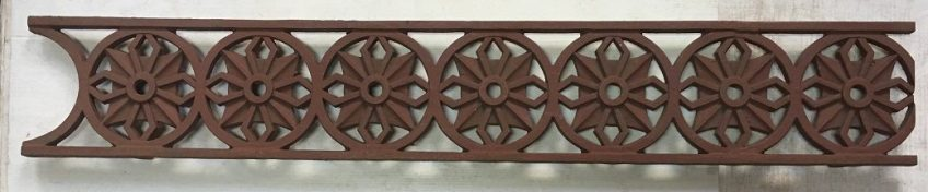 Circa 1890 cast iron verandah lacework valance, h 150mm approx 5.5 metres available, $110/m salvaged, recycled, demolition, reproduction, restoration, renovation, collectable, second hand, used, original, old, reclaimed, heritage,