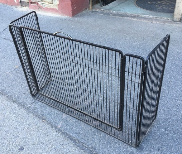 Wood fireplace guard/ nursery screen to keep children away from fire, lift out panel for access. steel, holes for attaching to wall, w 1030-1530 x d 310 x h 800mm, $220 salvaged, recycled, demolition, reproduction, restoration, renovation, collectable, second hand, used, original, old, reclaimed, heritage,