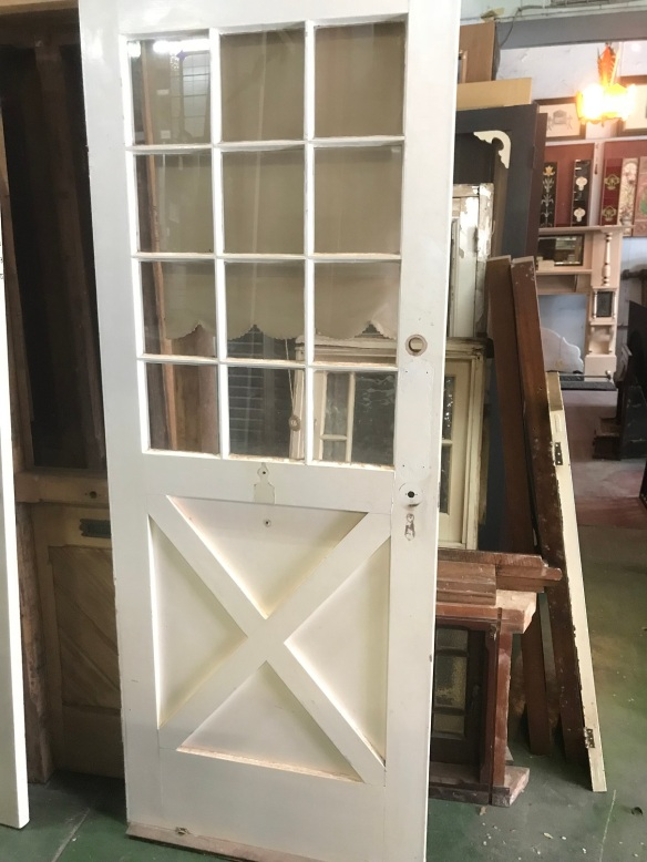 Interesting outside doorsalvaged, recycled, demolition, reproduction, restoration, renovation, collectable, second hand, used, original, old, reclaimed, heritage,, 810 mm x 2080 mm , $175