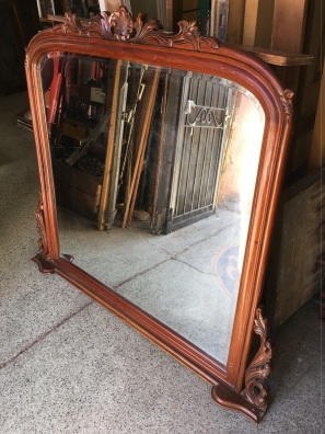 Reproduction over mantle mirror, 1400 mm wide x 1260 mm tall, $ 485