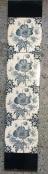 Original Victorian fireplace tiles, Navy blue transfer print on white ground, 2 panel set $230