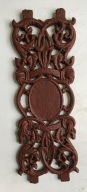 Small decorative cast iron panels, height 420 x width 145mm, 49 available, $45 each Small decorative cast iron panels, ex-India h420 x w145mm, 50 available, $45 each salvaged, recycled, demolition, reproduction, restoration, renovation, collectable, second hand, used, original, old, reclaimed, heritage,