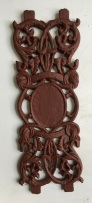 Small decorative cast iron panels, ex-India h420 x w145mm, 50 available, $45 each salvaged, recycled, demolition, reproduction, restoration, renovation, collectable, second hand, used, original, old, reclaimed, heritage,