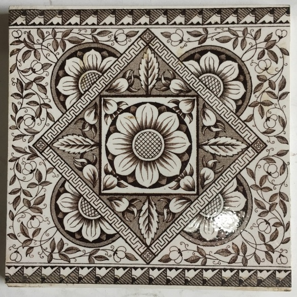Victorian fireplace tiles, 6x6 inch, possibly Pilkington, deep brown on white ground $250 for the set Victorian fireplace tiles, 6x6 inch, possibly Pilkington, deep brown on white ground $250 for the set