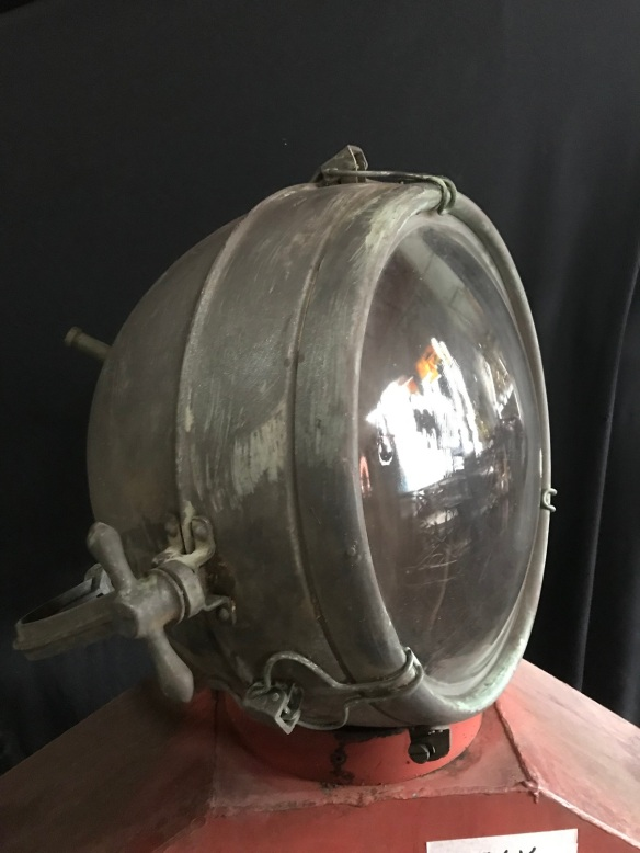 """salvaged, recycled, demolition, reproduction, restoration, renovation, collectable, second hand, used, original, old, reclaimed, Large copper spotlight with """"verdigris"""" patina, on bracket, approx height 600mm x width 500mm, will need new electrics fitted $440"""