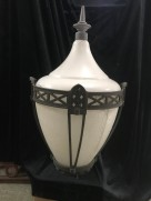 Great piece of Adelaide history, lights from the River Torrens and King William Street Bridge precinct, approx 800 mm tall x 470 mm diameter, 2 available. will need electrics replaced. Original cast iron frames around council ordered plastic replacement shades - after glass shades became unavailable. $650 each