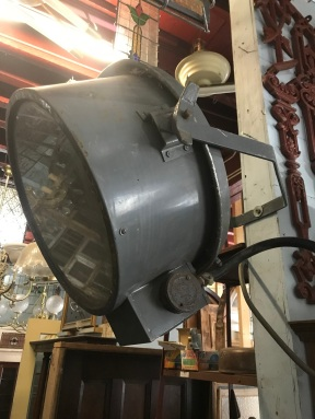salvaged, recycled, demolition, reproduction, restoration, renovation, collectable, second hand, used, original, old, reclaimed, heritage,Ex ETSA spotlights on bracket, will need new electrics , 500 mm diameter . $390 each , 3 available