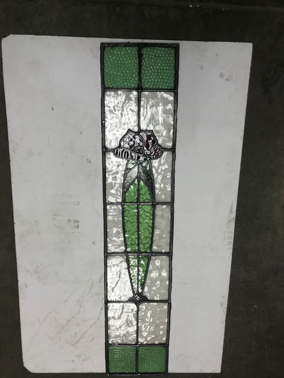 salvaged, recycled, demolition, reproduction, restoration, renovation, collectable, second hand, used, original, old, reclaimed, heritage, original leadlight panel, 1180 mm x 240 mm , $265