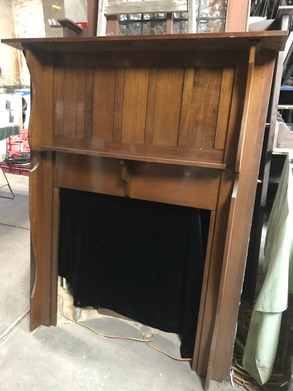 salvaged, recycled, demolition, reproduction, restoration, renovation, collectable, second hand, used, original, old, reclaimed, heritage, Large polished Bungalow mantle piece, top shelf is 1400 mm x 1690 mm tall, $485