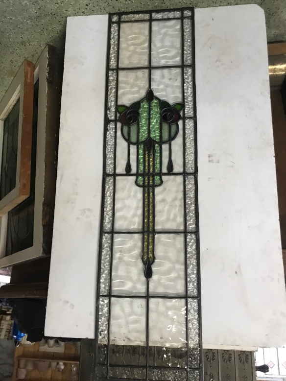 original leadlight panel, floral motif 325 mm x 1290 mm , $385 salvaged, recycled, demolition, reproduction, restoration, renovation, collectable, second hand, used, original, old, reclaimed, heritage,original leadlight panel, 325 mm x 1290 mm , $ 385 salvage recycled demolition, reproduction restoration, renovation, collectable, secondhand, used, original, old, reclaimed heritage, antique restored stained glass