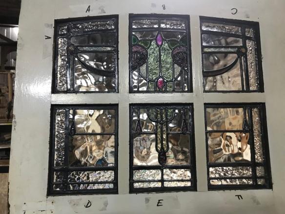 detail of leadlight in front door