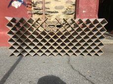 120 bottle wine rack, contemporary style , 700mm x 1760mm , (one small repair on end panel required) $150
