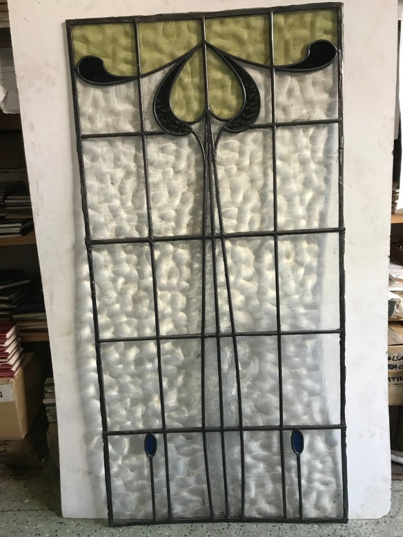 lovely arts and crafts style lead light panel, 1085 mm x 530 mm , $ 3 available $ 350 each panel salvage recycled demolition, reproduction restoration, renovation, collectable, secondhand, used, original, old, reclaimed heritage, antique restored stained glass