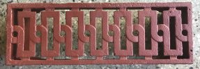 salvaged, recycled, demolition, reproduction, restoration, renovation,collectable, secondhand, used , original, old, reclaimed, heritage, antique, victorian, edwardian, georgian, deco Vent 5 S, 225 mm x 75 mm, reproduced in cast iron, $ 28.50 each