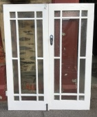 salvaged, recycled, demolition, reproduction, restoration, renovation,collectable, secondhand, used , original, old, reclaimed, heritage, antique, victorian, edwardian, georgian, deco Pair of french doors , 1625 mm x 2018 mm , rippled and clear glass, $ 440