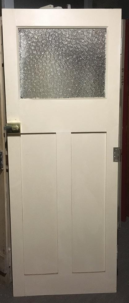 narrow bungalow back door with glass, 765 mm x 1970 mm , $ 120
