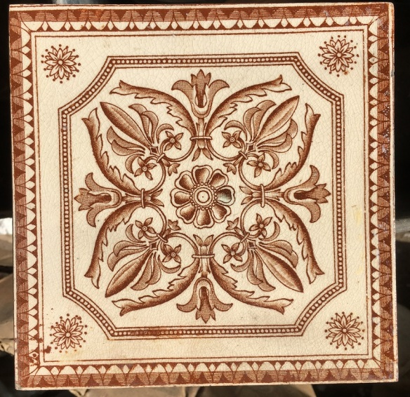 Victorian fireplace tile 6x6inch warm brown transfer print on cream background, 3 available $32 each Victorian fireplace tiles, transfer decal in brown and cream. Excellent condition, 3 available $35 each