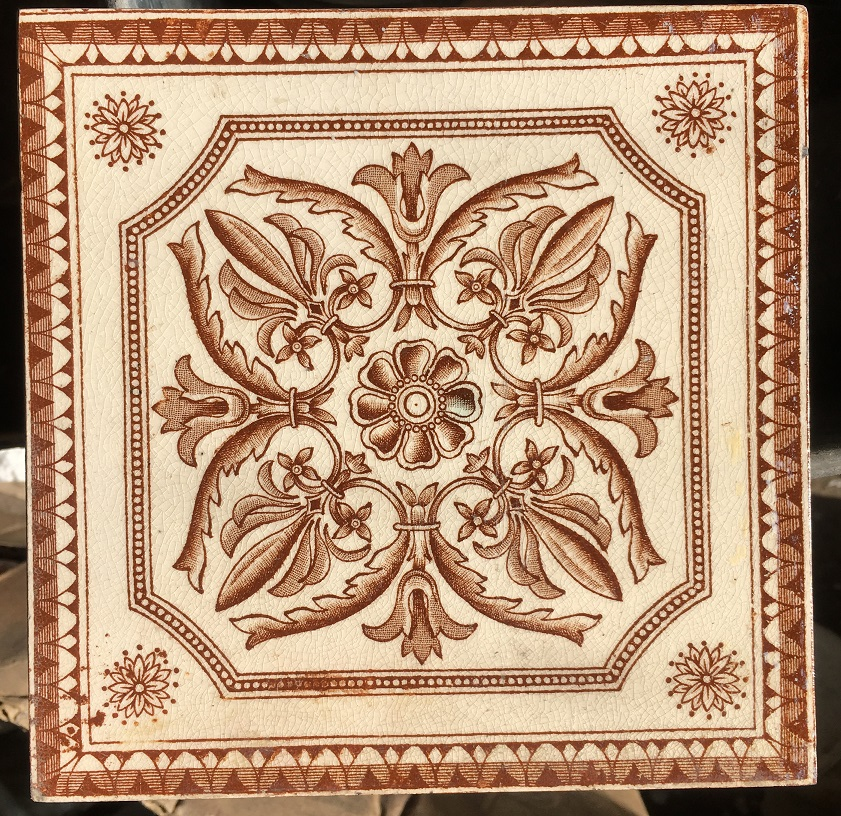 Victorian fireplace tile 6x6inch warm brown transfer print on cream background, 3 available $32 each Victorian fireplace tiles, transfer decal in brown and cream. Excellent condition, 3 available $35 each salvaged recycled demolition, reproduction, restoration, renovation,collectable, secondhand, used , original, old, reclaimed, heritage, antique, victorian, edwardian, georgian art nouveau ceramic arts and crafts decorative aesthetic