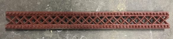 Original ,lovely narrow valance in cast iron, 12.5 metres available , $ 50 per lineal metre , we have corners to match with it