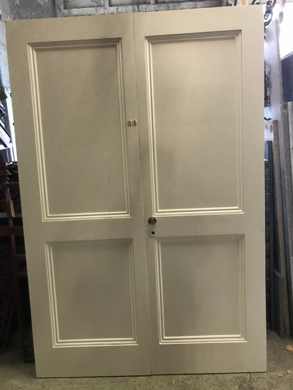Pair of french doors, 1360 mm x 2160 mm $ 330 the pair