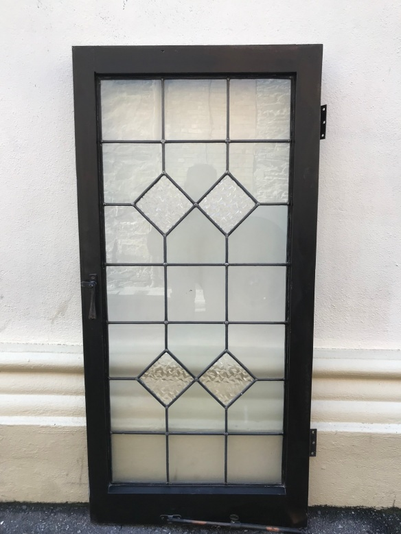 Original leadlight panel in frame , fame size is 545 mm x 1160 mm $ 175 each , 2 available