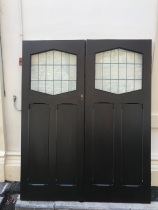 salvaged, recycled, demolition, reproduction, restoration, renovation,collectable, secondhand, used , original, old, reclaimed, heritage, antique, victorian, edwardian, georgian, deco Original pair of Bungalow French doors with leadlight, 1600 mm x 2015 mm $880 the pair