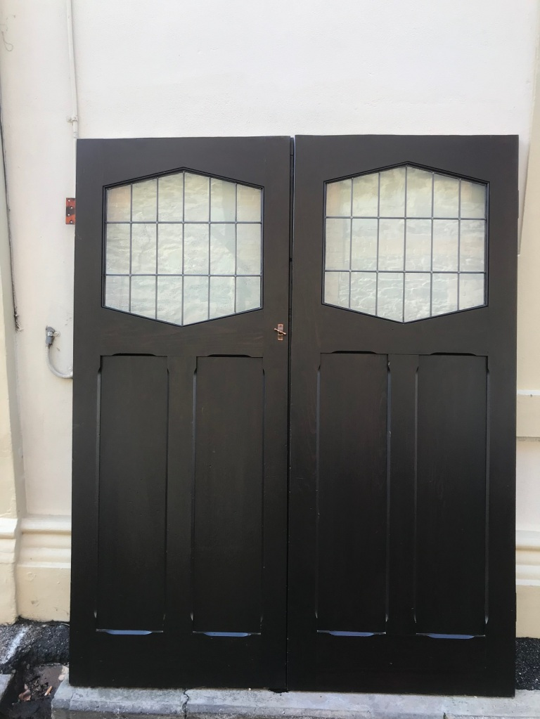 salvagedOriginal pair of Bungalow French doors with leadlight, 1600 mm x 2015 mm $880 the pair ON HOLD,Original pair of Bungalow French doors with leadlight, 1600 mm x 2015 mm $880 the pair ON HOLD recycled, demolition, reproduction, restoration, renovation,collectable, secondhand, used , original, old, reclaimed, heritage, antique, victorian, edwardian, georgian, deco Original pair of Bungalow French doors with leadlight, 1600 mm x 2015 mm $880 the pair
