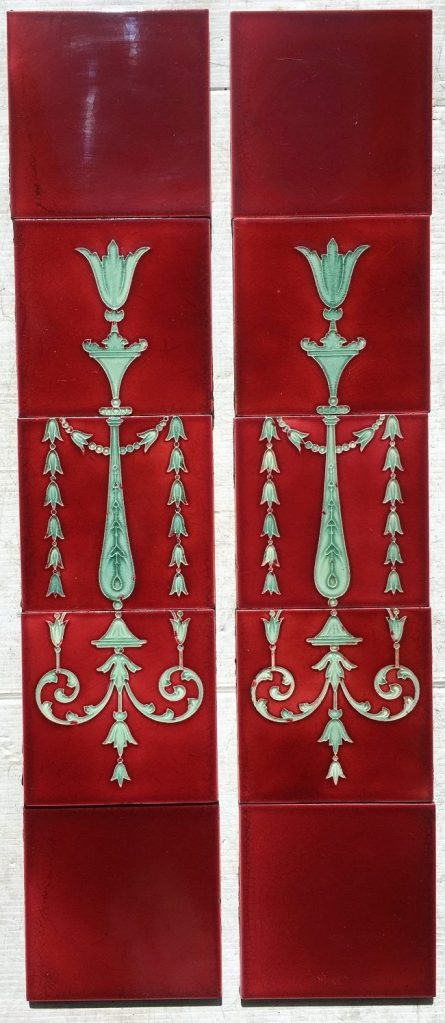 Original Victorian fireplace tile set with continuous pattern. 6x6 inch tiles, burgundy and green, SET 85, $360 Original Victorian fireplace tile set with continuous pattern. 6x6 inch tiles, burgundy and green, SET 85, $375 Original Victorian fireplace tile set with continuous pattern. 6x6 inch tiles, burgundy and green, SET 85 salvaged, recycled, demolition, reproduction, restoration, renovation,collectable, secondhand, used , original, old, reclaimed, heritage, antique, victorian, edwardian, georgian, deco fireplace tile salvaged recycled demolition, reproduction, restoration, renovation,collectable, secondhand, used , original, old, reclaimed, heritage, antique, victorian, edwardian, georgian art nouveau ceramic arts and crafts decorative aesthetic
