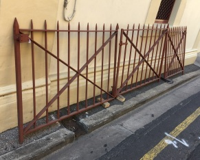 2 x pairs of blacksmithed driveways gates approx w 3120xh1100mm $1400 each pair. Matching pedestrian gate w1080xh1100mm $650