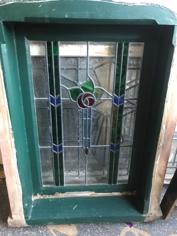 salvaged, recycled, demolition, reproduction, restoration, renovation,collectable, secondhand, used , original, old, reclaimed, heritage, antique, victorian, edwardian, georgian, deco Original leadlight casement window, 660 mm x 910 mm $ 385