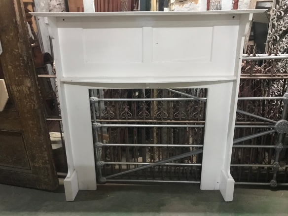 Original Bungalow style fireplace mantlepiece, painted, top shelf is 1470mm height is 1465mm $300 ce, top shelf is 1470 mm height is 1465 mm $ 300 salvaged, recycled, demolition, reproduction, restoration, renovation,collectable, secondhand, used , original, old, reclaimed, heritage, antique, victorian, edwardian, georgian, deco Original Bungalow style mantle piece, top shelf is 1470 mm height is 1465 mm $ 300