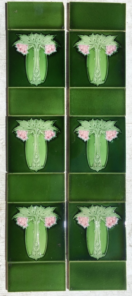 Alfred Meakin and Co. c1895-1910 fireplace tile set of 2 panels (detail of picture tile) $210 OTB