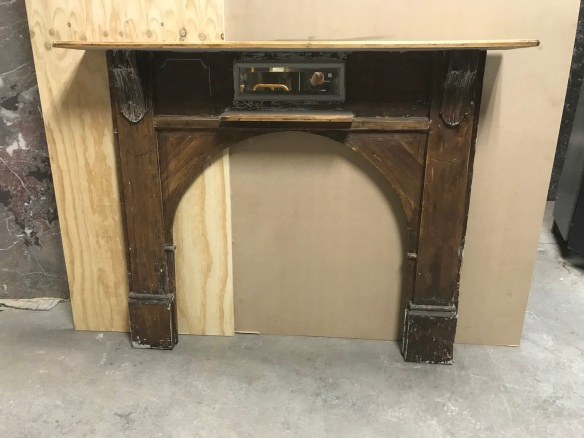 salvaged, recycled, demolition, reproduction, restoration, renovation,collectable, secondhand, used , original, old, reclaimed, heritage, antique, victorian, edwardian, georgian, deco Original Kauri pine arched bungalow mantle piece, top shelf is 1445 mm x 1195 mm tall, $ 200