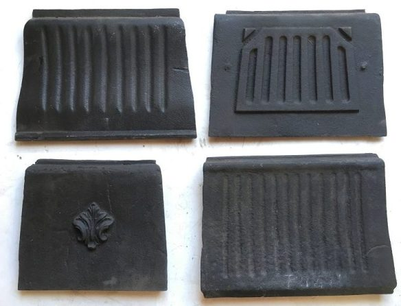 Fireplace replacement for damaged missing parts available, 100s of different original makes available. sample cast iron fireplace insert bricks pictured.