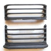 Fireplace replacement for missing fireplace parts damaged parts available, 100s of different original makes available. sample cast iron fireplace insert fences pictured.