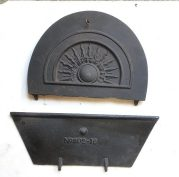 Fireplace replacement missing fireplace parts parts available, 100s of different original makes available. sample cast iron fireplace insert damper/flap pictured. damaged cast iron fire place parts