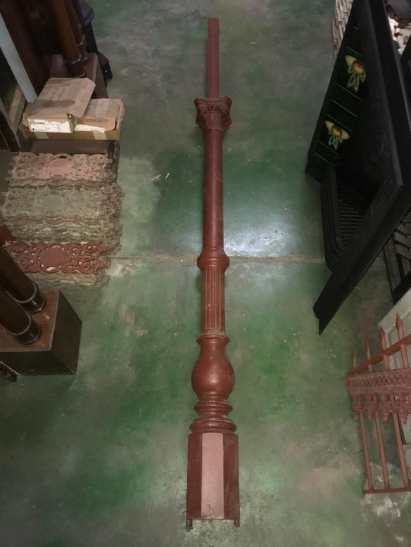 Original cast iron post for verandah, 2410 mm tall, one of $ 600