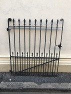 salvaged, recycled, demolition, reproduction, restoration, renovation,collectable, secondhand, used , original, old, reclaimed, heritage, antique, victorian, edwardian, georgian, deco Early black smith gate, 1220 mm tall x 1020 mm wide opening, $ 825