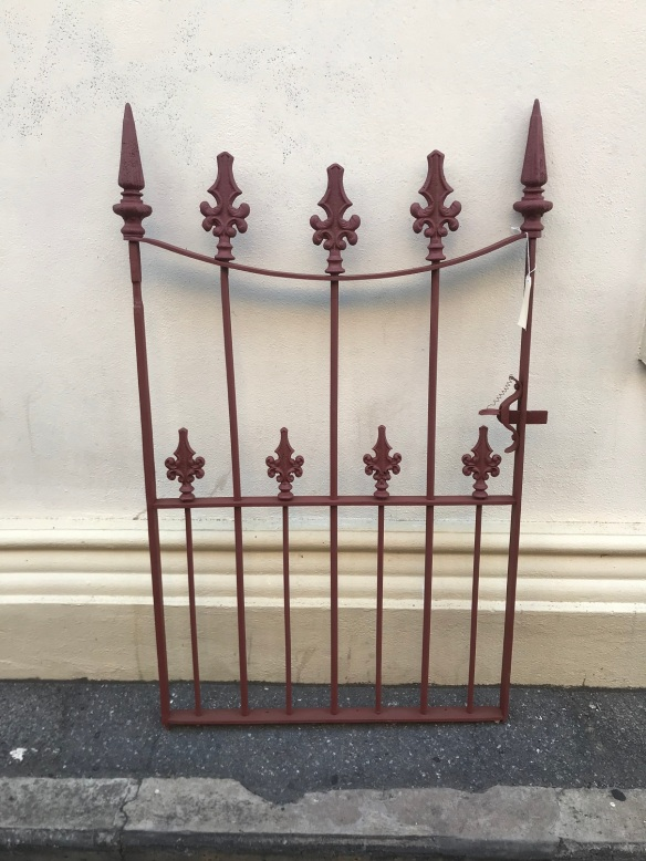 salvaged, recycled, demolition, reproduction, restoration, renovation,collectable, secondhand, used , original, old, reclaimed, heritage, antique, victorian, edwardian, georgian, deco lovely original Victorian pedestrian gate, 1400 mm tall x 850 mm wide , $ 750