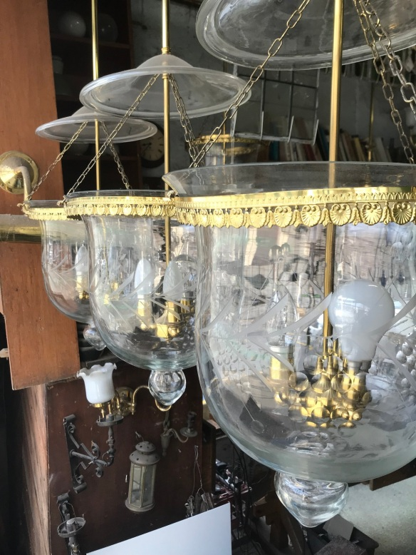 salvaged, recycled, demolition, reproduction, restoration, renovation,collectable, secondhand, used , original, old, reclaimed, heritage, antique, victorian, edwardian, georgian, deco Bell Jar lights , 300 mm diameter, $ 220 - $ 160 each depending on condition, 5 available